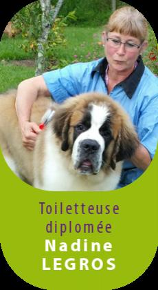 Nadine Legros, toiletteur diplomée se déplace à domicile avec le Chicbus, le salon de toilettage mobile